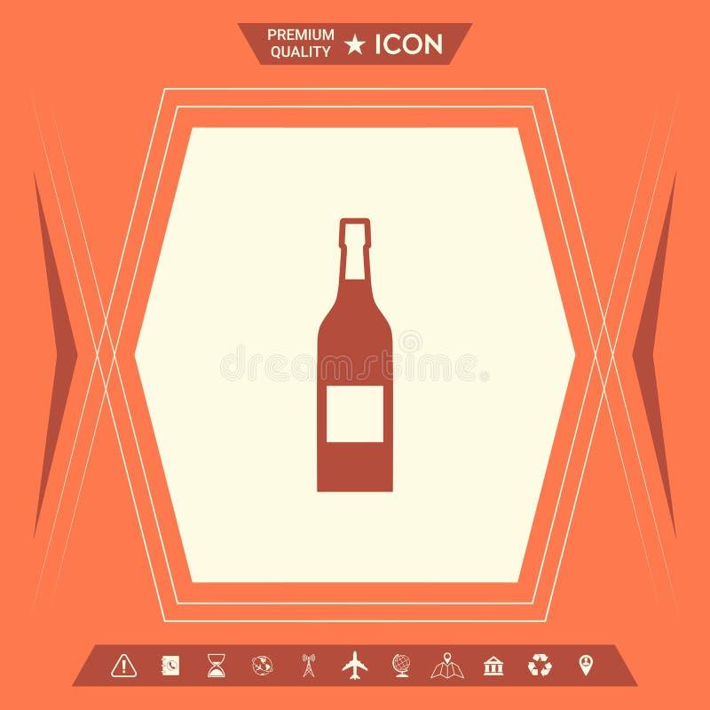 瓶酒象 向量例证