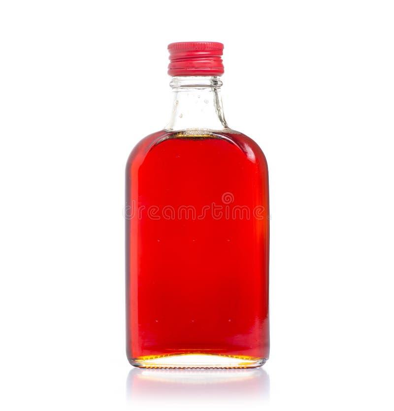瓶野玫瑰果糖浆 库存图片