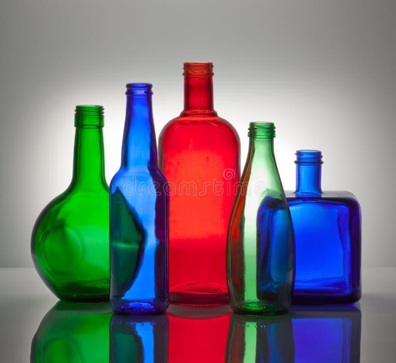 瓶颜色构成玻璃 库存照片