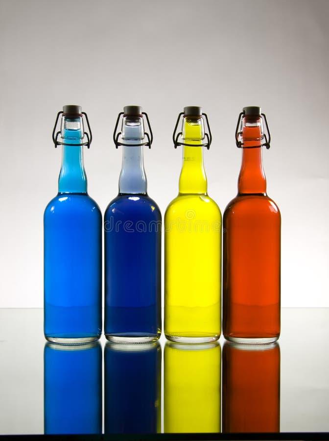 瓶颜色渐晕 库存照片