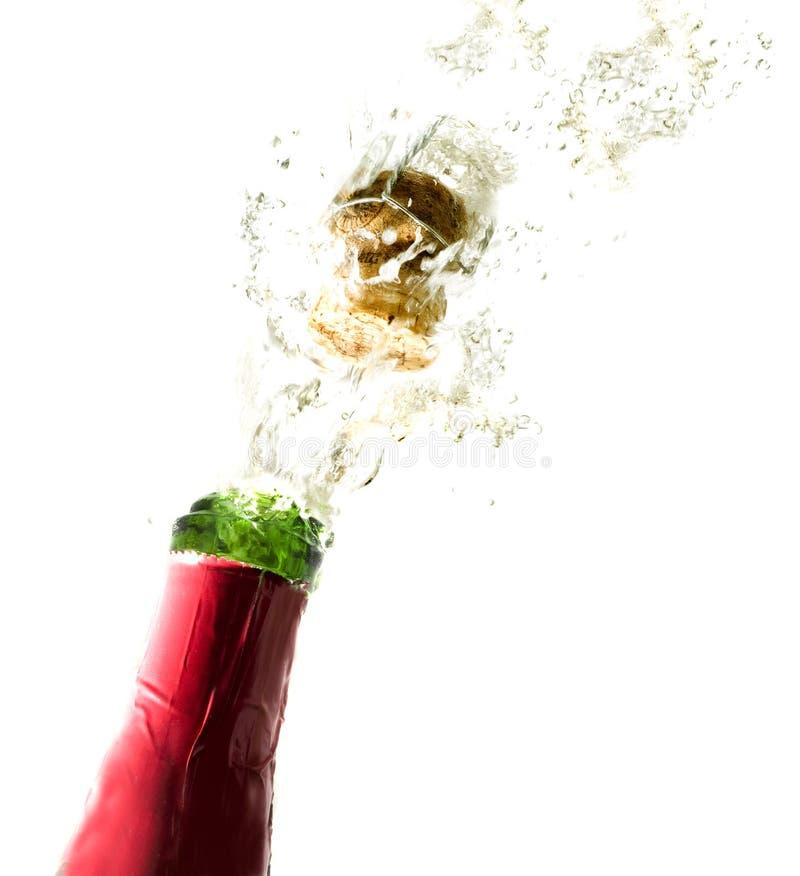瓶香槟黄柏 免版税库存图片