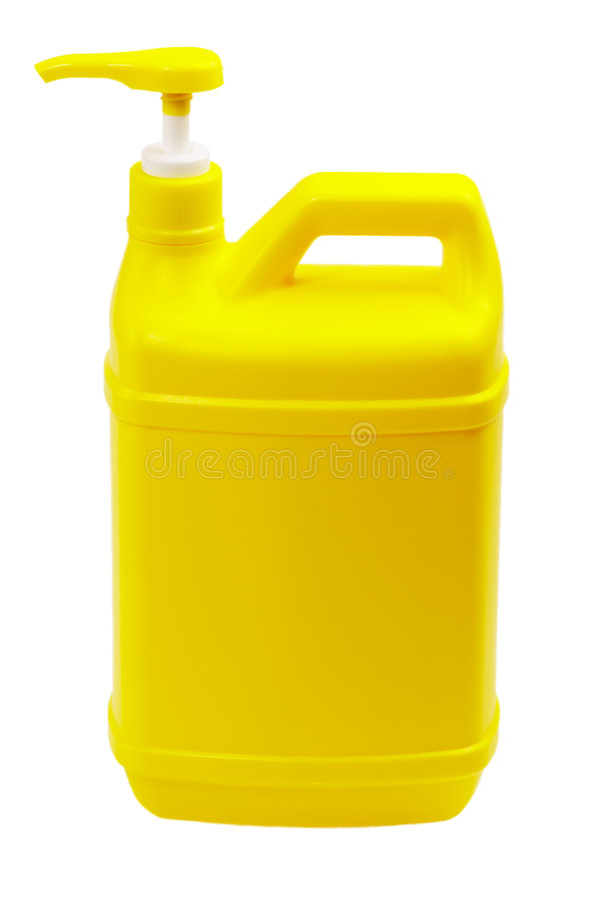 瓶coulored塑料 免版税图库摄影
