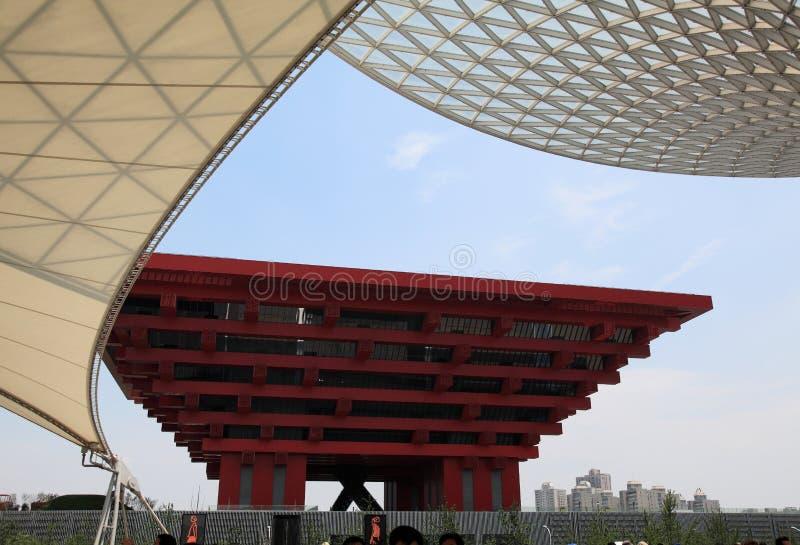瓷商展亭子上海世界 库存照片
