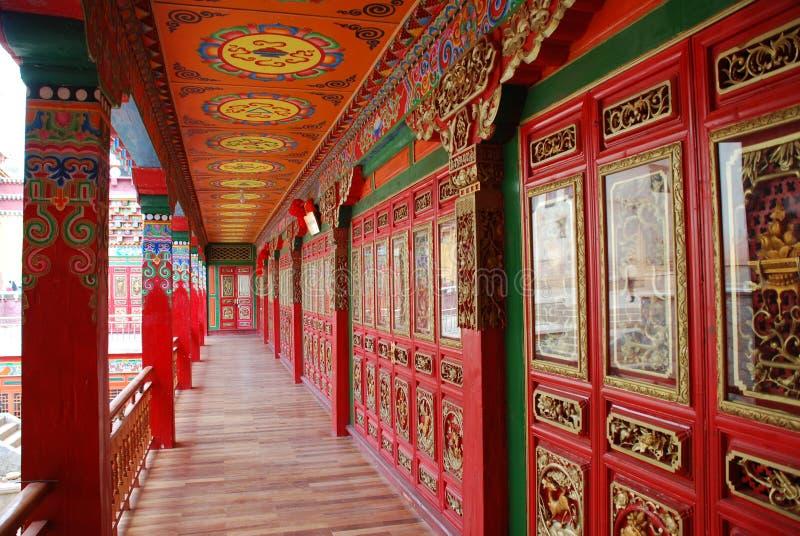 瓷喇嘛寺庙云南 免版税库存照片
