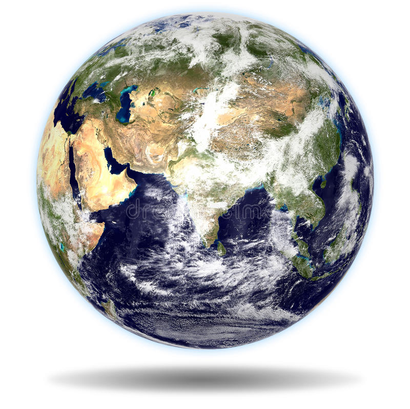 瓷地球印度视图 免版税库存图片