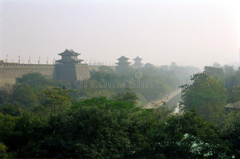 瓷城市墙壁XI县 库存照片