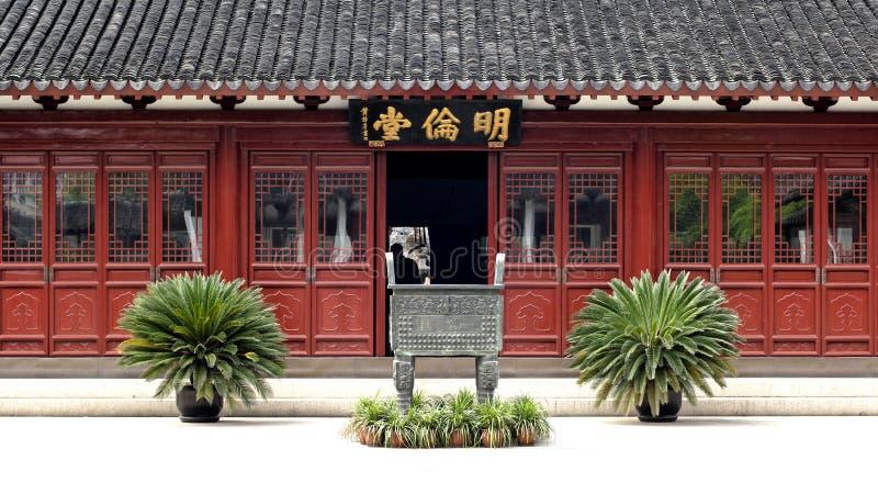 瓷孔子・上海寺庙 免版税图库摄影