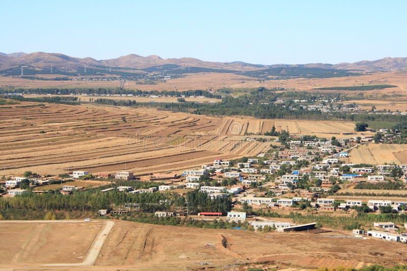 瓷小的村庄 图库摄影