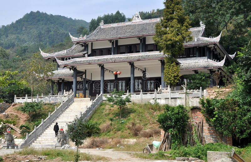瓷山坡pengzhou道士寺庙 图库摄影