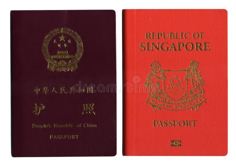 瓷护照新加坡 库存照片
