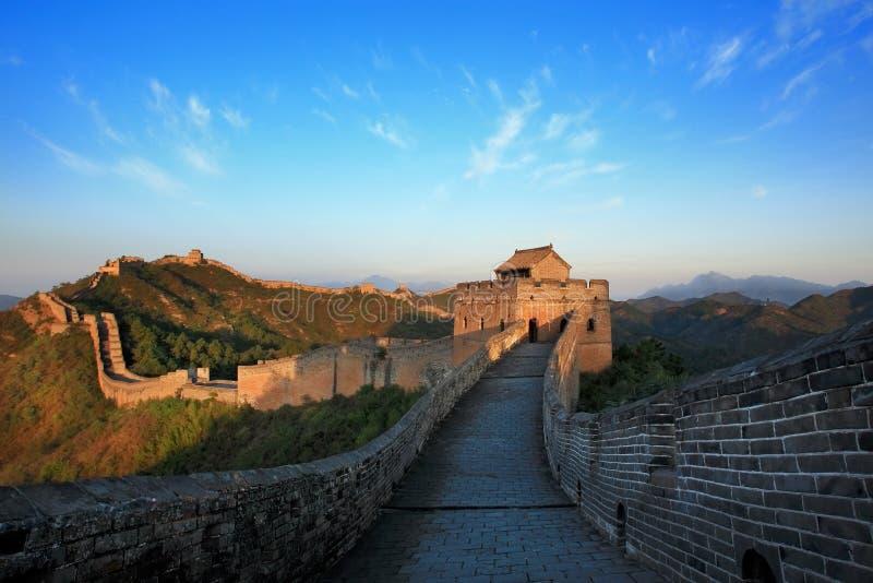 瓷日极大的视图墙壁 免版税库存照片