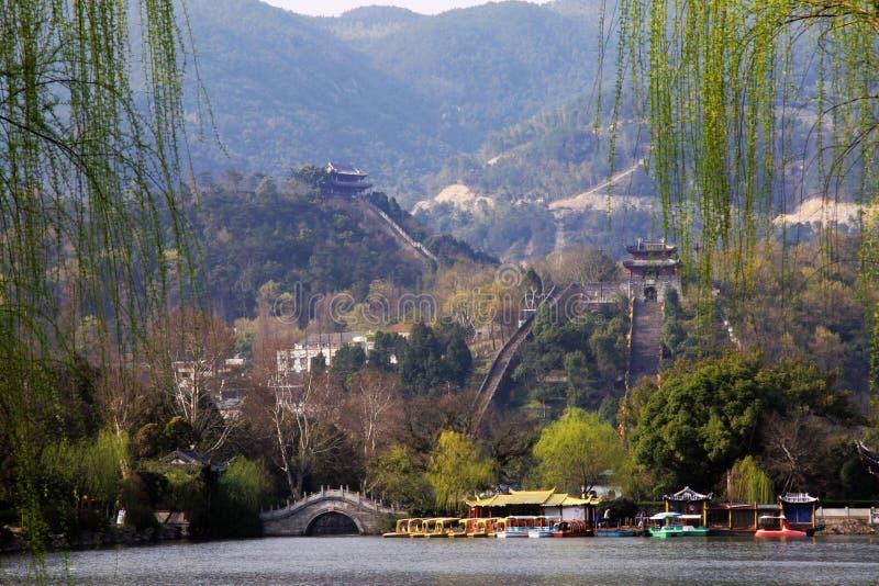 瓷极大的省s墙壁浙江 免版税图库摄影