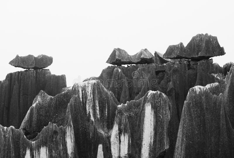 瓷森林石头云南 免版税库存图片