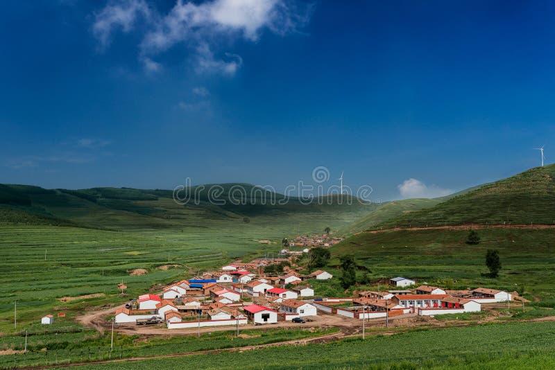 瓷的小的村庄 库存照片