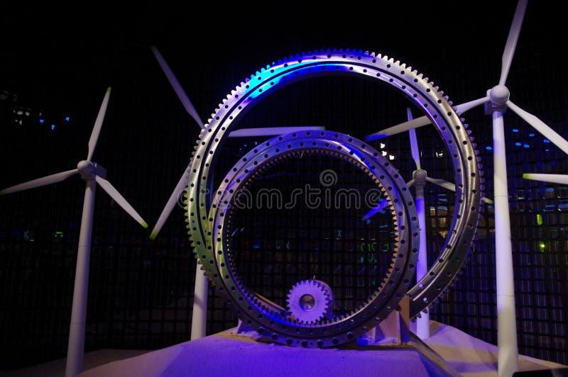 瓷能源expo2010亭子上海风 免版税库存照片