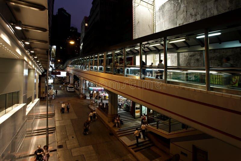 瓷自动扶梯香港最长的世界 图库摄影
