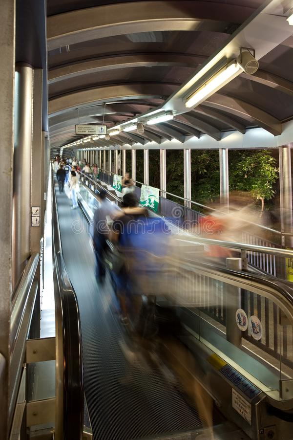 瓷自动扶梯香港最长的世界 免版税库存照片