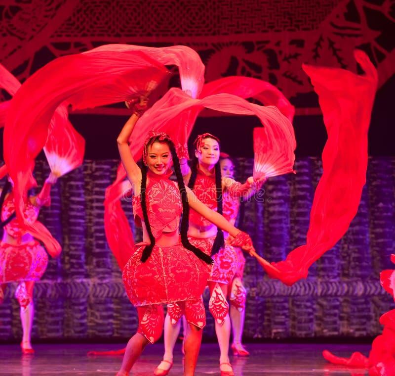 瓷舞蹈红色 库存图片