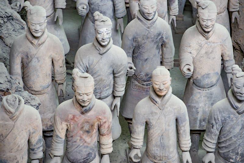 瓷赤土陶器战士县 库存图片