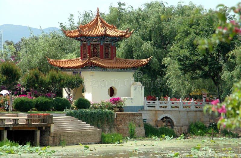 瓷达官门昆明公园通过 库存照片