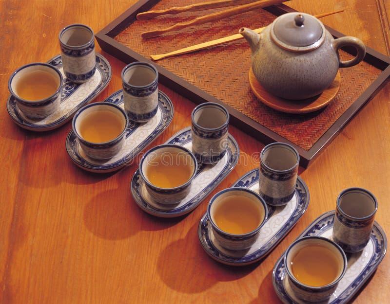 瓷饮料茶工具 免版税库存图片