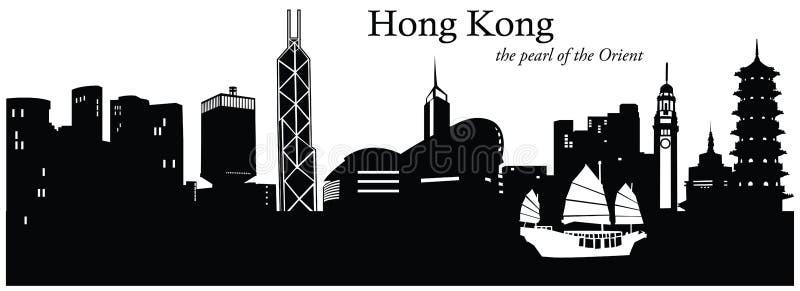瓷香港 向量例证