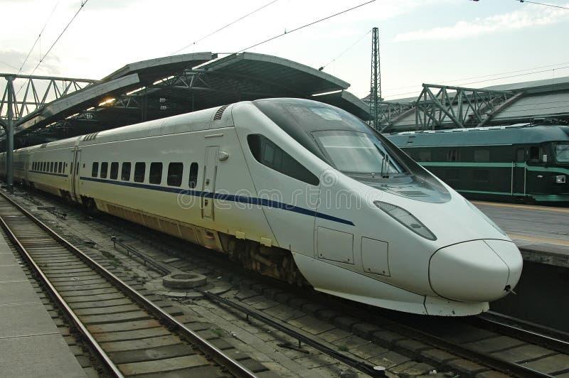 瓷高速火车 免版税库存图片