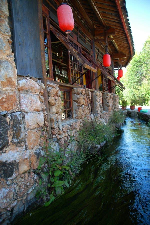 瓷lijiang老城镇 库存图片