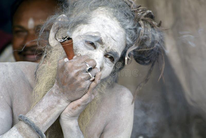 甘加Sagar梅拉或公平是全部从喜马拉雅山的纳卡人sanyasi会集的地方 图库摄影