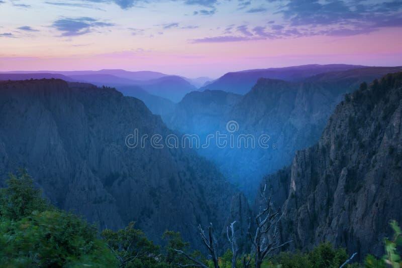 甘尼逊黑峡谷国家公园, Montrose的Coun 免版税库存图片