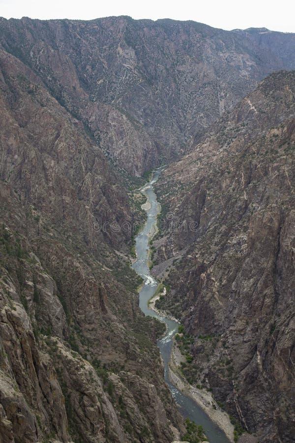 甘尼逊黑峡谷国家公园,在Montrose附近,科罗拉多,美国 库存图片