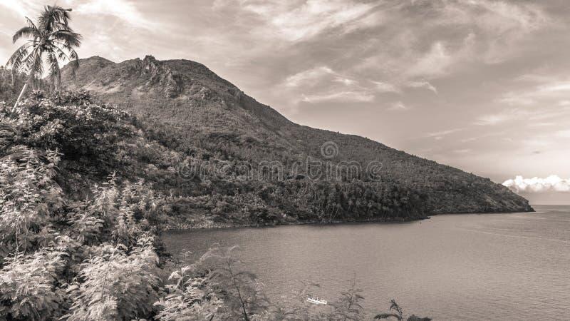 甘米银岛海景,棉兰老岛菲律宾 库存图片