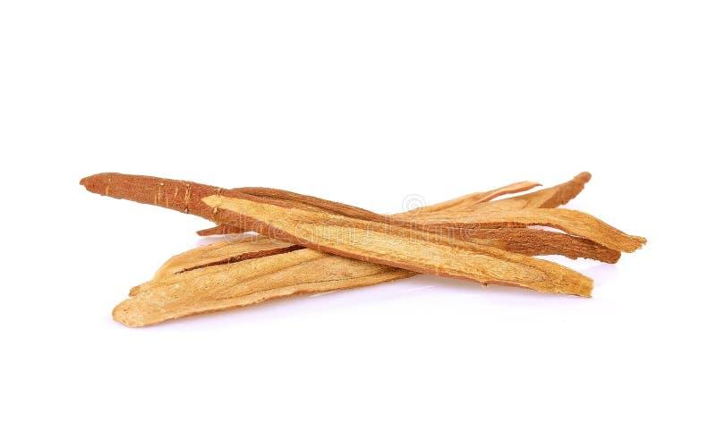 甘草精根,用于中国草药 库存图片