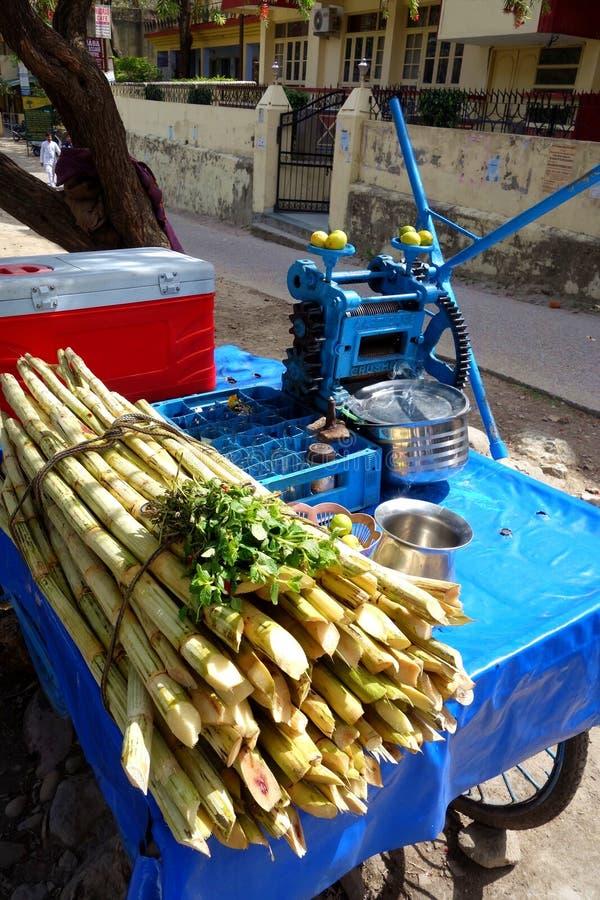 甘蔗汁手新闻 库存照片