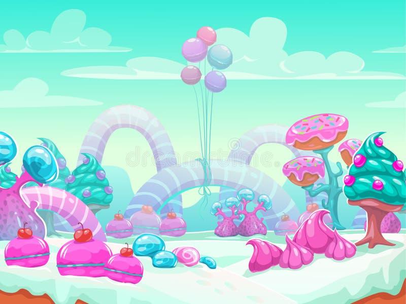 甜世界动画片 皇族释放例证