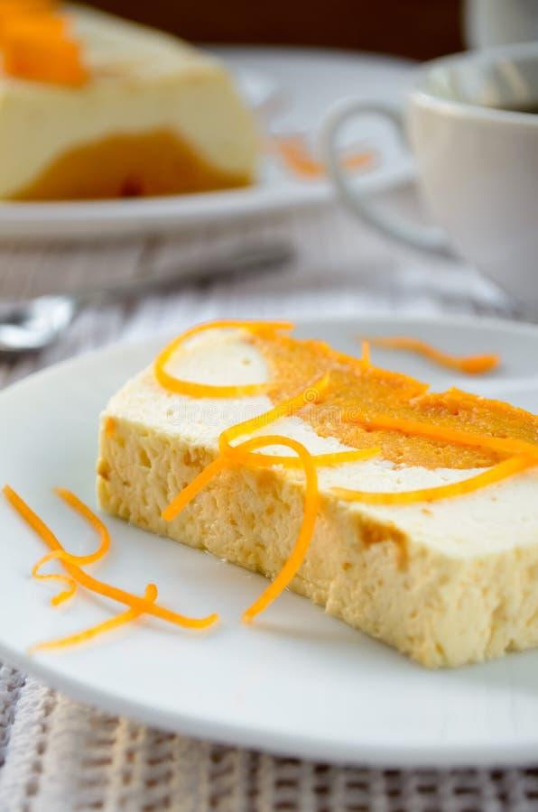 甜乳脂状的布丁用酸奶干酪和南瓜蛋白牛奶酥 库存图片