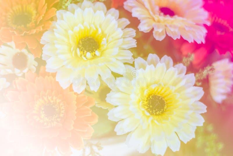 甜五颜六色的塑料花 免版税图库摄影