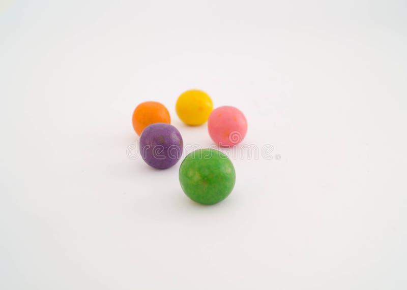 甜五颜六色的糖果 免版税库存图片