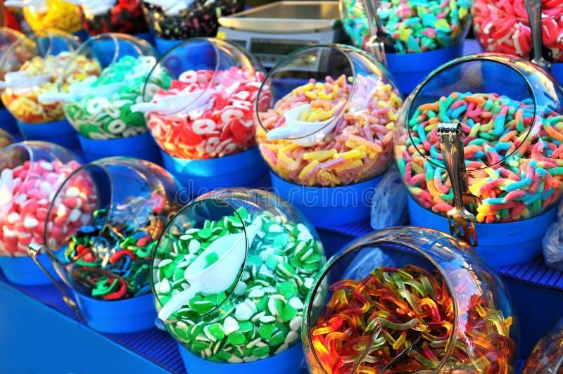 甜五颜六色的糖果 图库摄影