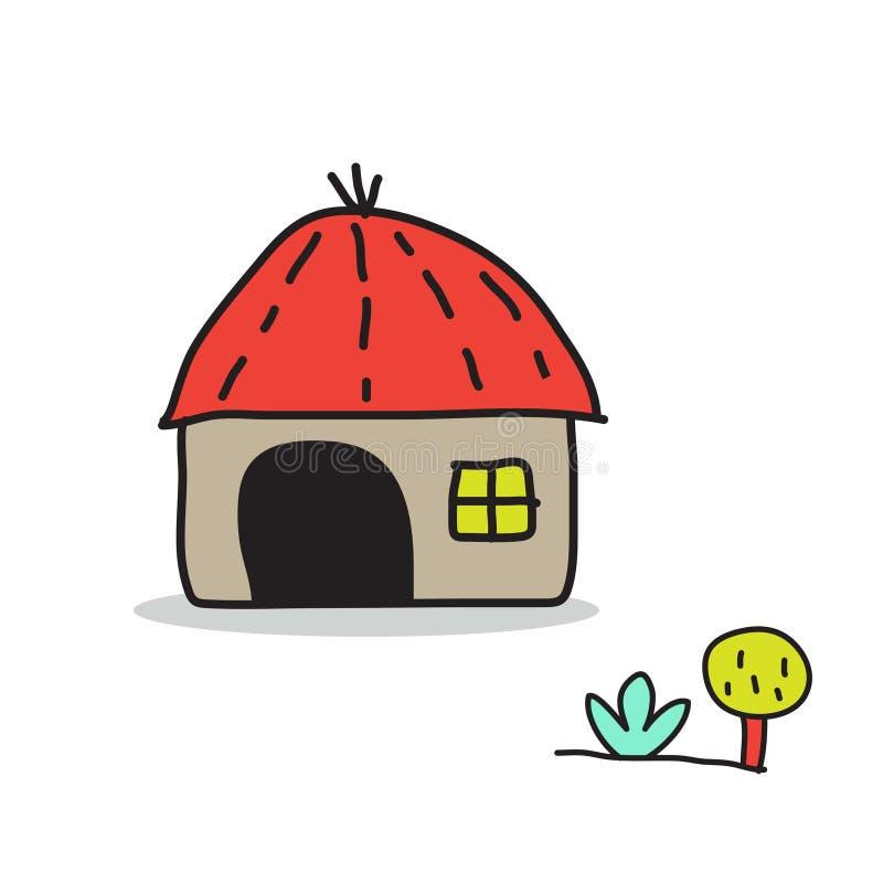 甜家庭动画片 库存例证