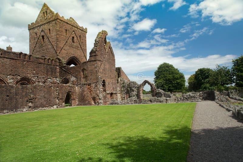 甜心修道院, Dumfriesshire,苏格兰 免版税库存图片