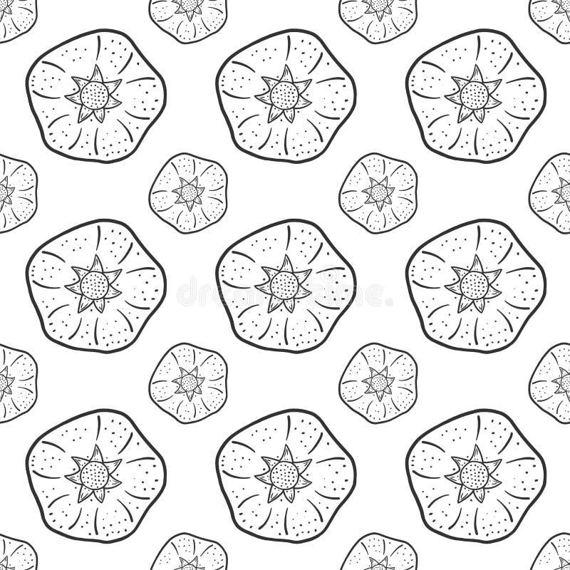 甜成熟石榴 在乱画和剪影样式的传染媒介概念 打印的手拉的例证在T恤杉,明信片 向量例证