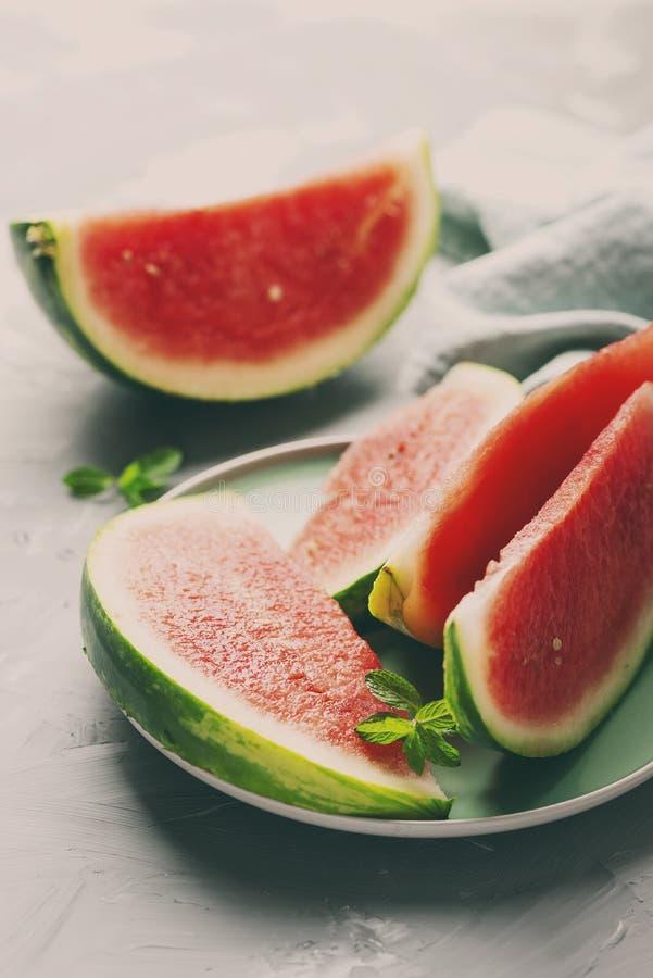 甜新鲜的西瓜 免版税库存图片