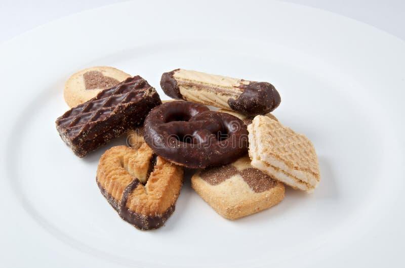 甜曲奇饼特写镜头的混合 库存照片