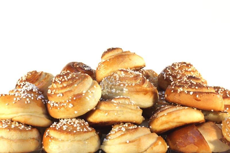 甜束的小圆面包 免版税库存照片