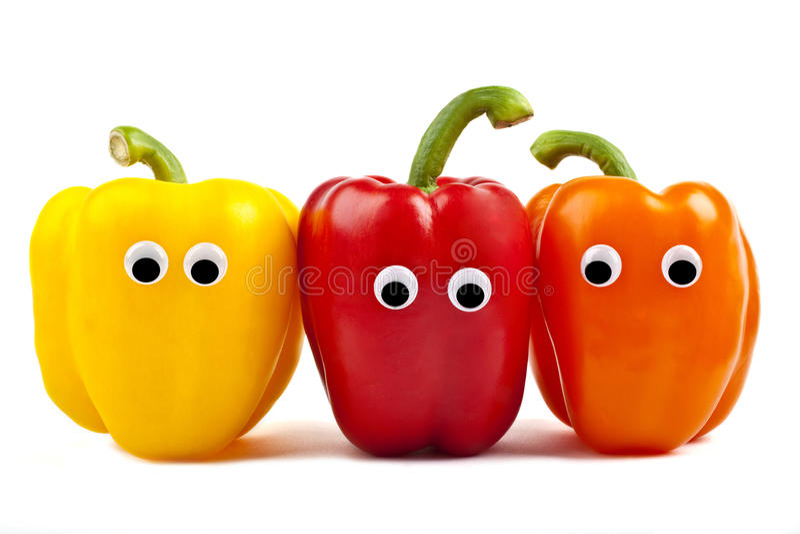 甜椒字符 免版税图库摄影