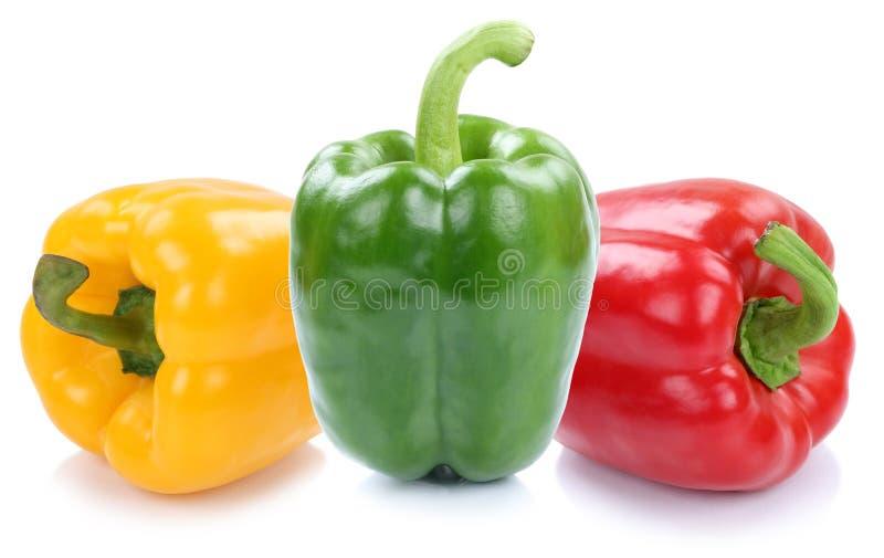 甜椒以子弹密击被隔绝的辣椒粉辣椒粉五颜六色的菜 库存照片