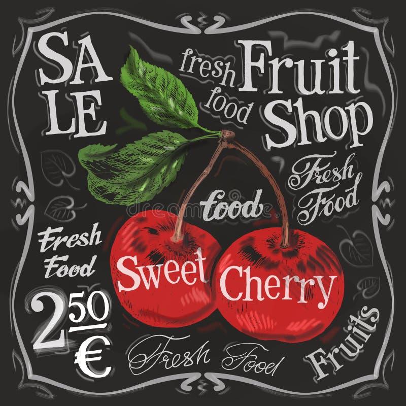 甜樱桃传染媒介商标设计模板 新鲜 向量例证