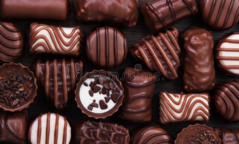 甜点果仁糖巧克力 免版税库存照片