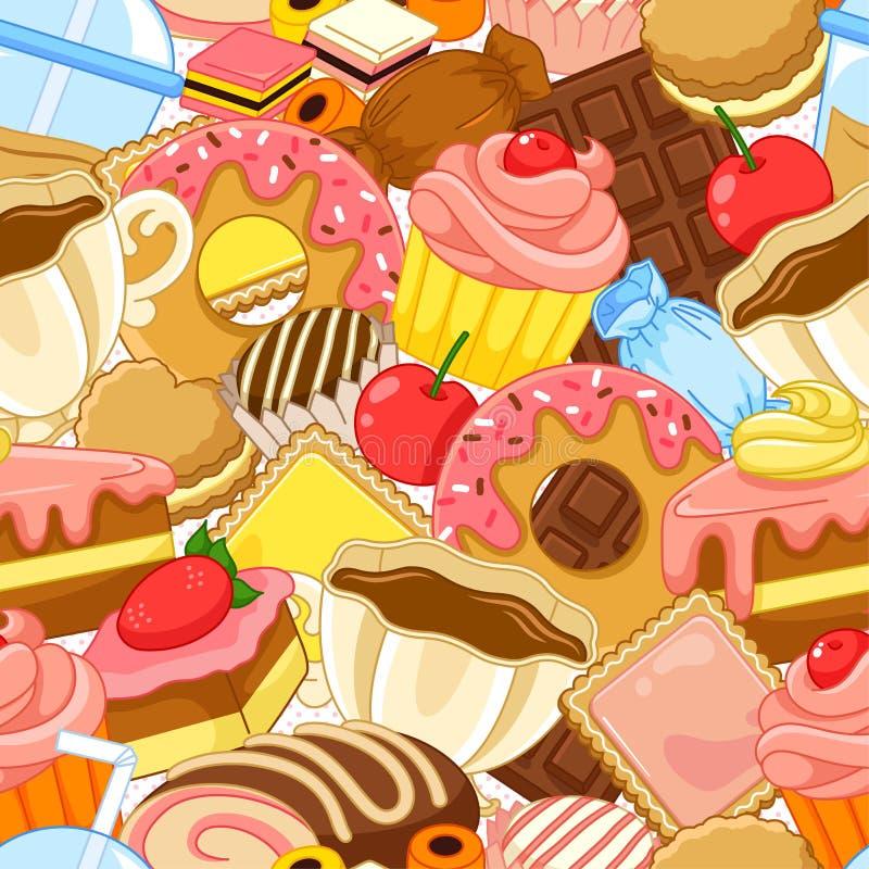 甜点样式 向量例证